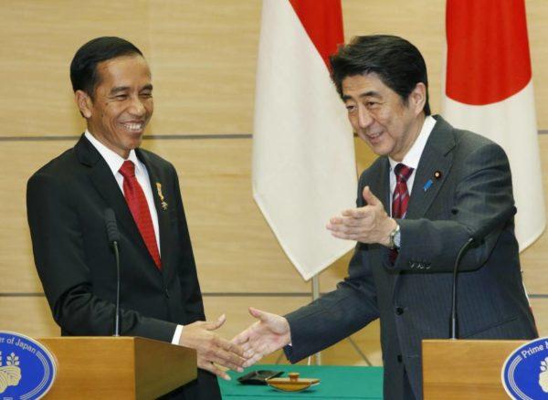 Indonesian President Joko Widodo and Prime Minister Shinzo Abe Source : Japan Times