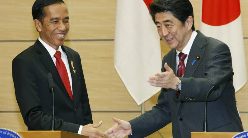Indonesian President Joko Widodo and Prime Minister Shinzo Abe Source : Japan Times