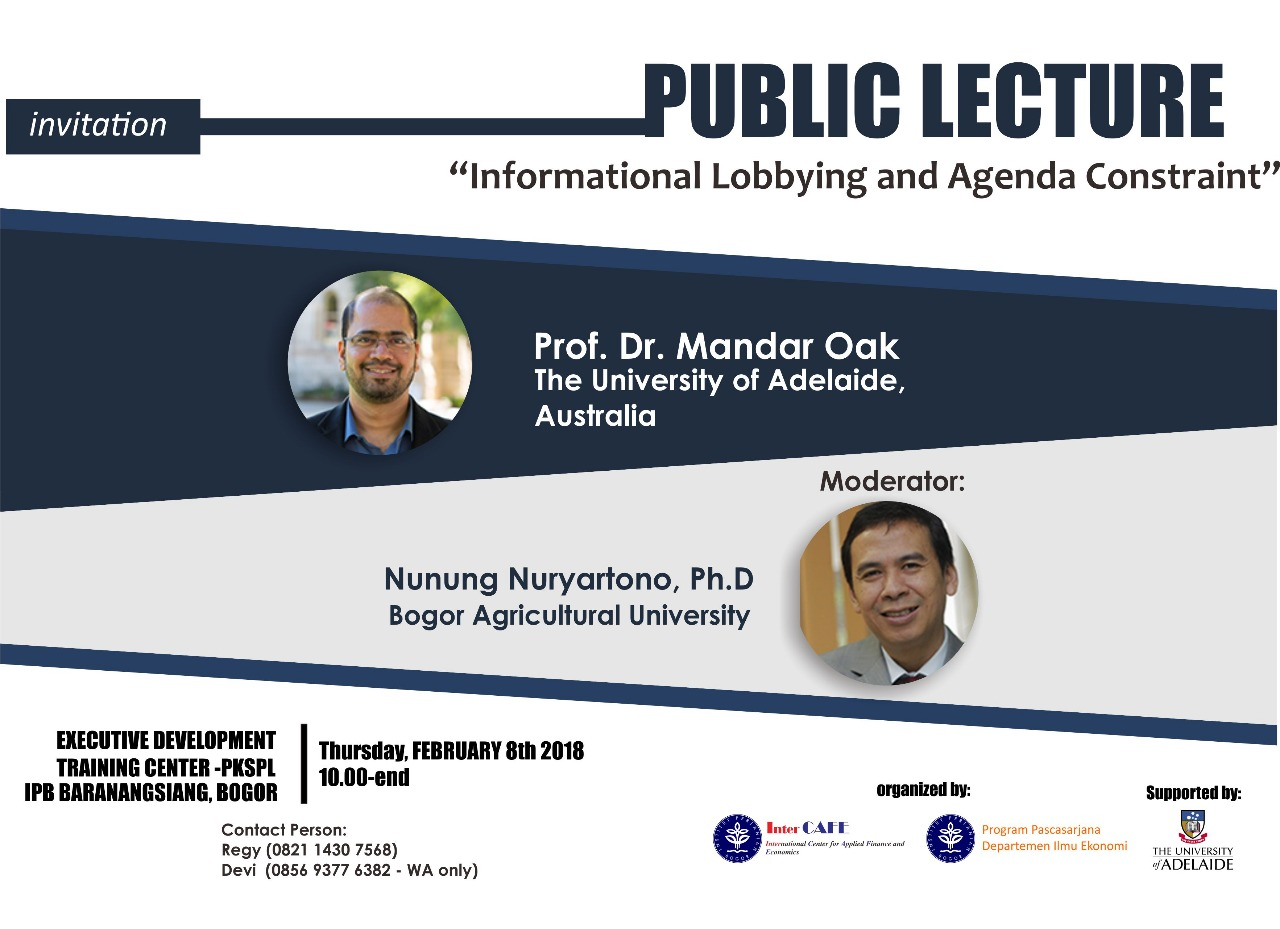 Download of Public Lecture 2018 Presentasion