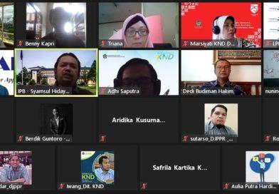 Zoom Meeting : Kajian Dampak Ekonomi dan Sosial PKE (Eximbank dan Kemenkeu RI)